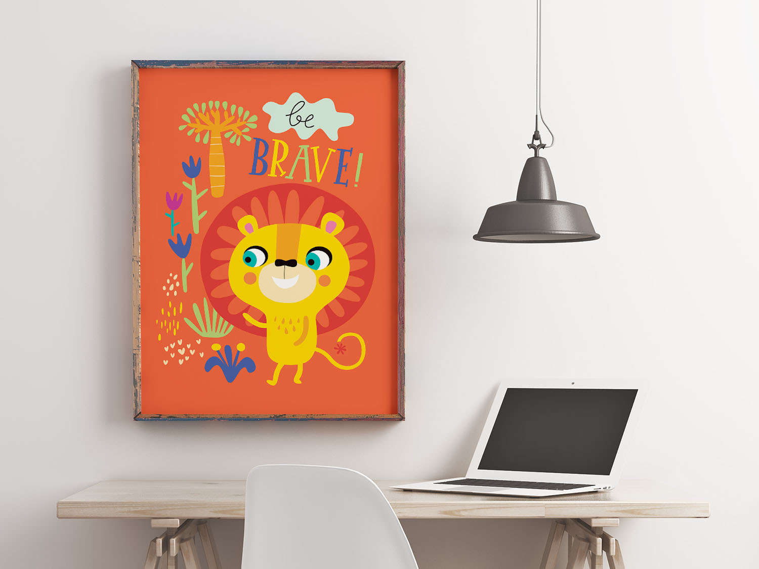 10 Be Brave Nursery Wall Art for Baby Room Decor